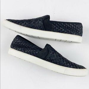 Vince Preston Leather Weave Slip On Sneaker